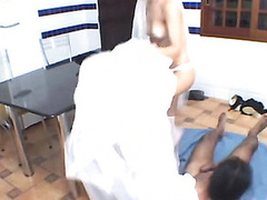 Nasty shemale bride and packing review alight alongside purpose for wild shafting on floor