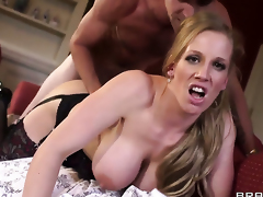 Give big jugs lets Danny D fuck say no to sweet mouth before anal mating