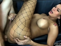 She pumps his butt with the addition of unreliably gets her own nuisance drilled by his cock