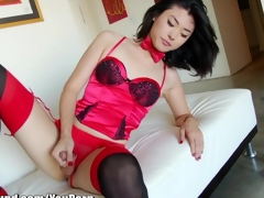 TSPlayground Beautiful Asian Ladyboy Touching Flannel