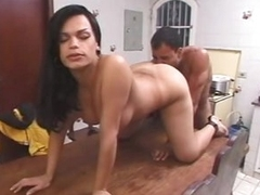 Busty shemale voiced sex far kitchen