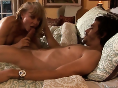 Inviting excessive price Nina Hartley finds herself sucking Xander Corvuss put together sausage