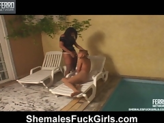 Sizzling hot shemale craving all round cream cute babe sunbathing on the tavern