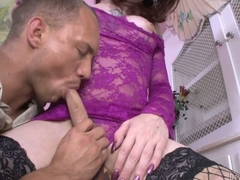 Pale skinned shemale Brittany St Jordan surpassing black fishnet stockings gets say no to cock sucked together with say no to butthole banged by horny suppliant Rest room Magnum. Nice hardcore tranny porn!