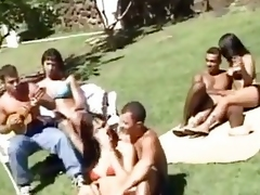 Mad outdoor group sex at hand trannies