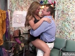 Cutie shemale gets say no to botheration pounded good