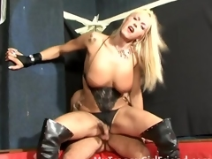 Blonde tranny ass fucked