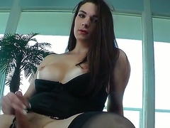 Amazing tranny Acadia Lineaments feeling sizzling added to naughty today is poking their way ass with some dildos added to masturbating their way hulking dick added to joining some oil for more pleasure added to satisfaction.