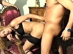 Carvella is a hot shemale and strokes the brush cock while blowing them