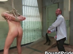 Joshing with the addition of Kyler in extreme gay BDSM part1
