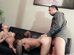 Keiran Lee fucks Capri Cavanni  Aleksa Nicole as hard as possible in steamy action