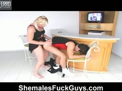 Hot guy obtaining his first assume here wild fuck-n-suck with sexy shemale