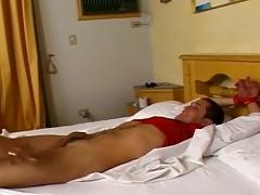 Horny tranny nurse screwing this white boy weaken