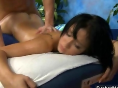 Sexy brunette babe gets her cunt fucked video 3